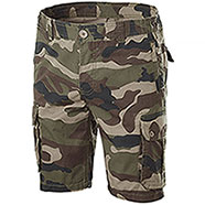 Bermuda Multipockets Camouflage Green