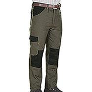Pantaloni caccia Kalibro Upland Green e Black Canvas e Cordura