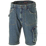 Bermuda Jeans uomo Cofra Havana Elasticizzato