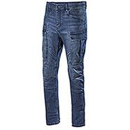 Jeans uomo Diadora Utility Denim Stone Cargo Light Blu Atlantic