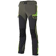 Pantaloni uomo Hiker Light Elasticizzati Green-Black-Lime Fluo