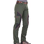 Pantaloni Donna Kalibro Cargo Cotton Stretch Green Cordura Black