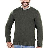 Maglione Girocollo Lana e Cashmere Verde Kalibro Mito