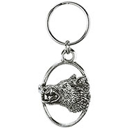 Enraged Wild Boar Key-ring