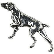 Hunting dog Brooch