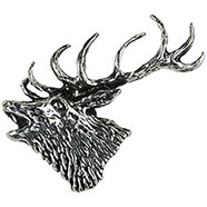 Stag howling Brooch