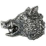 Wild Boar's Head Brooch