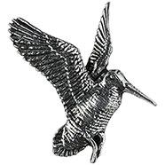 Flying Woodcock Brooch