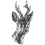 Pewter Roe-Deer Head Brooch