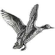 Pewter Mallard Open-Winged Brooch