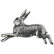 Pewter Hare Brooch