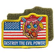 Patch Ricamato Destroy The Evil Power