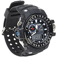 Orologio Dual Time Black