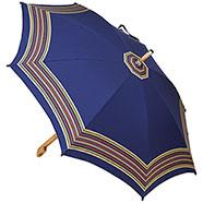 Ombrello da Campagna Romano Balzato Blu stecche Bambù