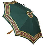 Ombrello da Campagna Romano Balzato Verde stecche Bambù