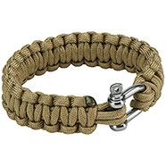 Paracord Metal 22 mm Coyote