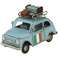 Modellino Auto Celeste con Tricolore