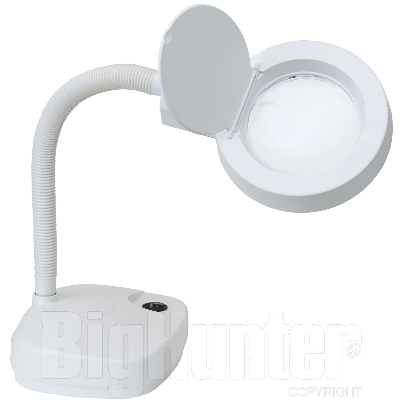 Lente di ingrandimento con luce 11 watt - Specchio con lente di ingrandimento ...