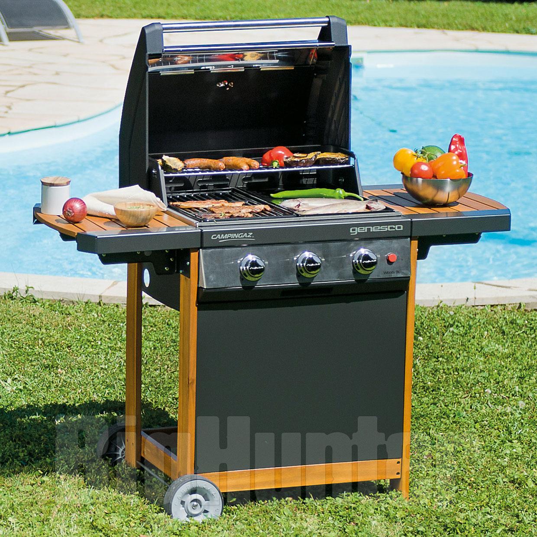 barbecue a gas campingaz genesco 3 woody l. Black Bedroom Furniture Sets. Home Design Ideas
