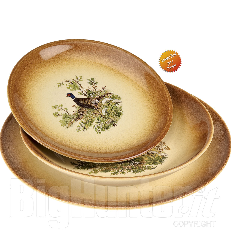 Servizio piatti ceramica country per 6 persone for Servizio di piatti