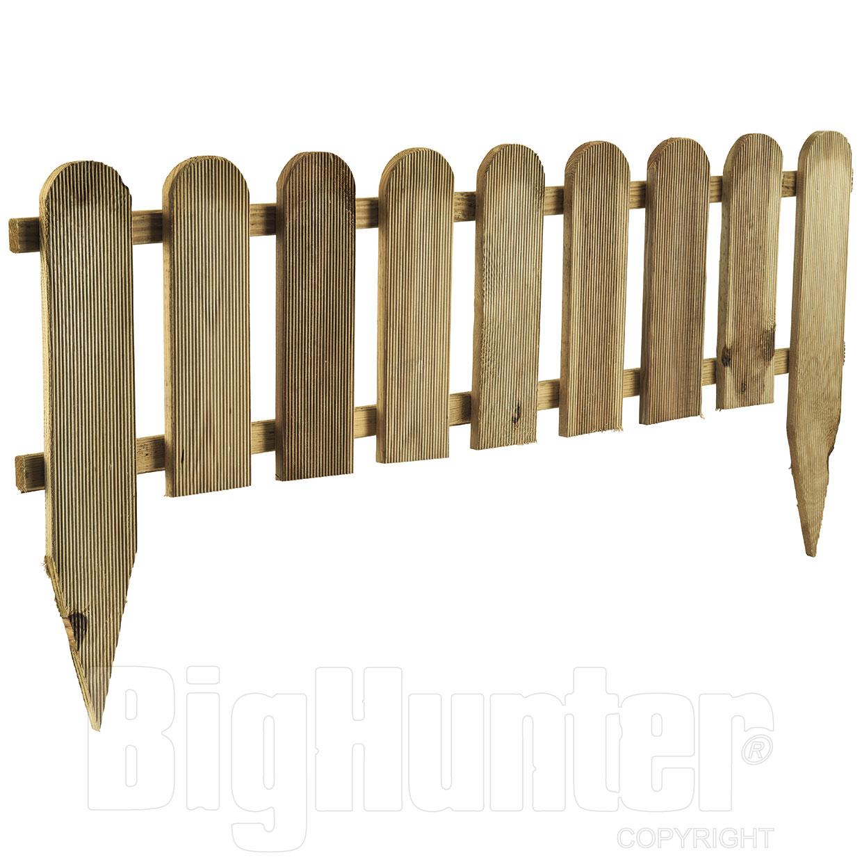 recinzione legno per aiuole modello inglese