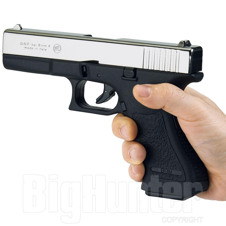 Glock 17 pistola a salve Gap calibro 8 nickel Bruni