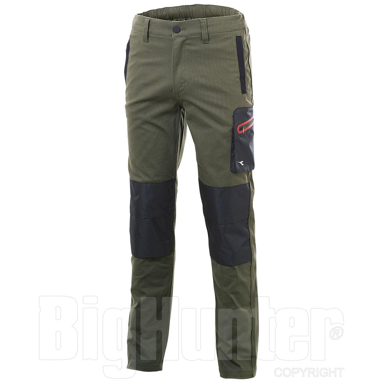 5e189ad6b82d12 Pantaloni uomo Diadora Utility Stretch Verde