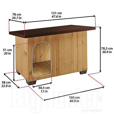 Cuccia per cani Ferplast Baita 100 Pastore Tedesco-Rotweiler