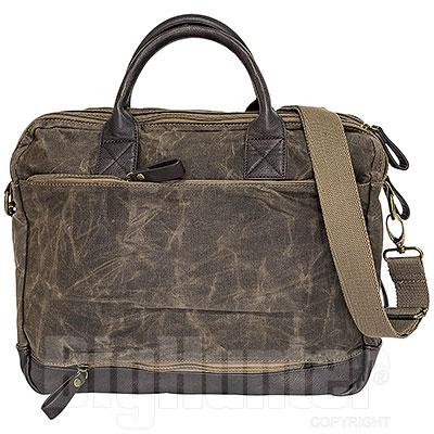 Borsa Avirex RJ90 Briefcase Canvas Texture Stonewash Brown-Mud