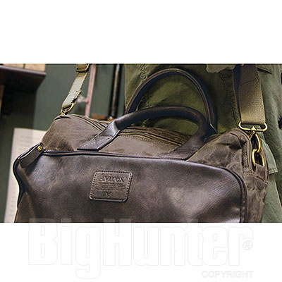Borsa Avirex RJ90 Briefcase Canvas Texture Stonewash Brown-Mud