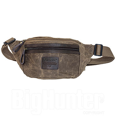 Marsupio Avirex RJ90 Canvas Texture Stonewash Brown-Mud