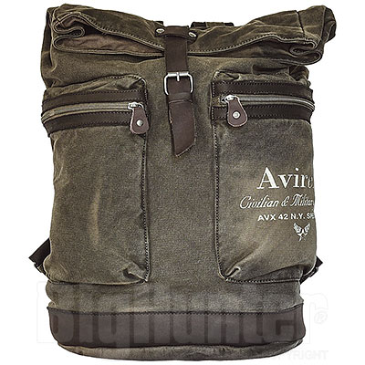 Zaino Avirex Line 140506 Canvas Washed and Leather