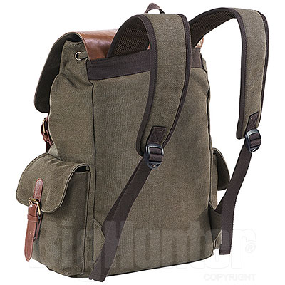 Zaino Canvas Strong Green con Fibbie