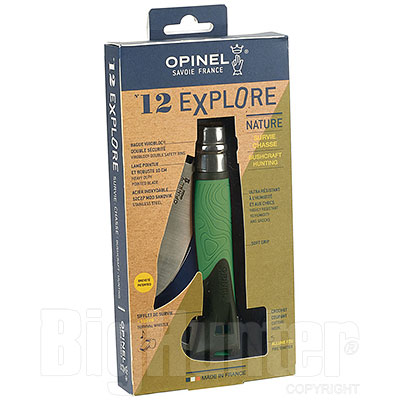 Coltello Opinel 12 Explore Nature Green