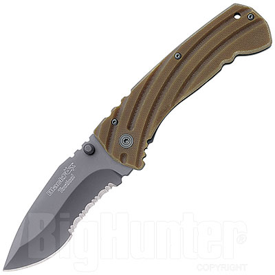Coltello Black Fox Tactical Folding G10 Tan
