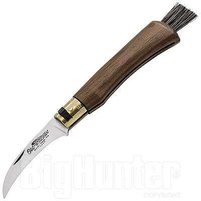 Coltello Old Bear Funghi Safety Ring Noce