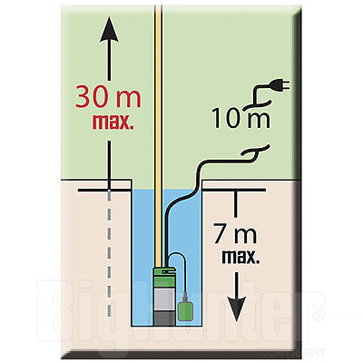Pompa ad Immersione 3 Turbine Ribimex 800W