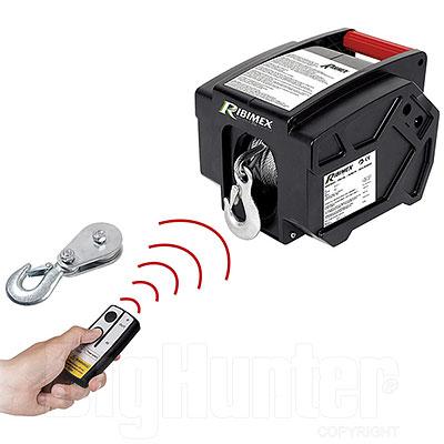 Verricello Elettrico Ribimex con Telecomando 12V