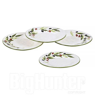 4 Piatti terracotta per Frutta   Serie Olive
