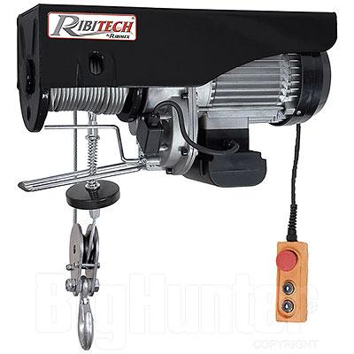 Paranco elettrico Ribimex 495/990 kg 1600W