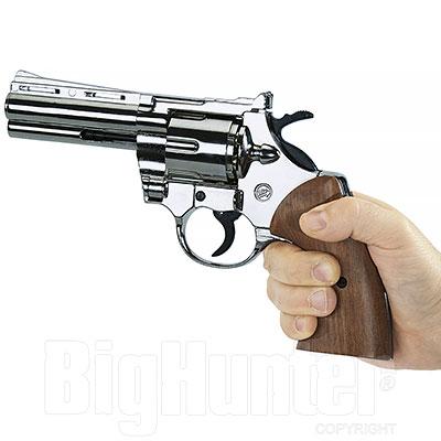Bruni Revolver a Salve Colt Python Magnum Calibro 380 Nickel