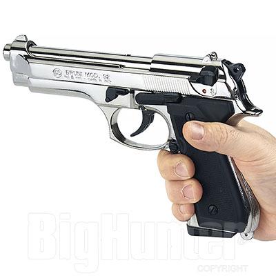 Pistola a salve Beretta 92 calibro 8 Nickel Bruni