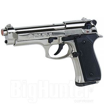 Bruni Pistola a Salve Beretta 92 Calibro 9 Nickel