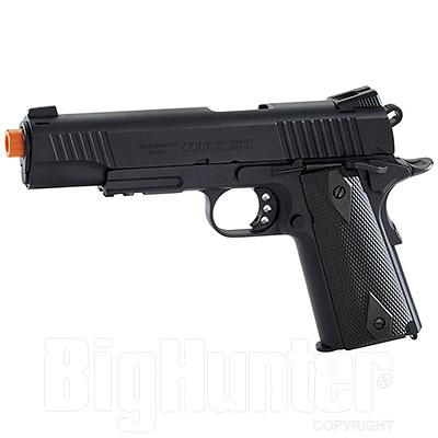 Replica Softair Cybergun Colt 1911 Rail Gun 6mm Blackened