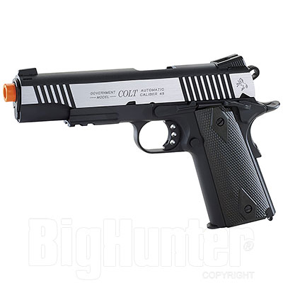 Replica Softair Cybergun Colt 1911 Rail Gun 6mm Dual Tone