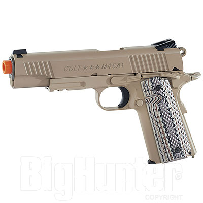 Replica Softair Cybergun Colt M45A1 Rail Gun 6mm Desertan