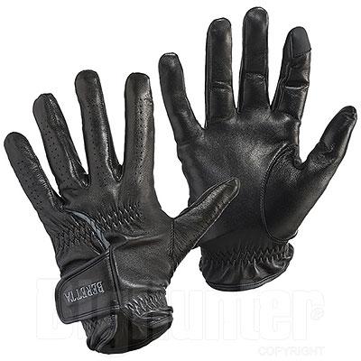 Guanti da Tiro Beretta Target Leather Black and Grey