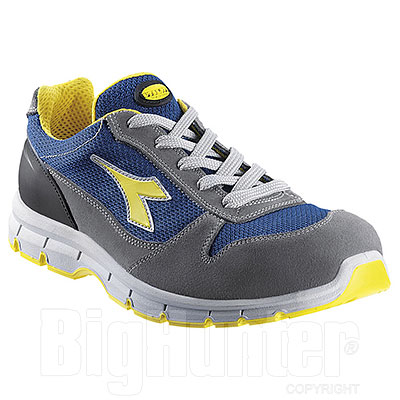 Scarpa Antinfortunistica Diadora Run Textile Low S1P SRC Grey Blu