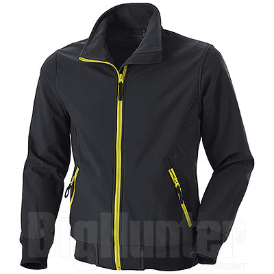 Giacca Softshell uomo Bruges Black Details Yellow Fluo