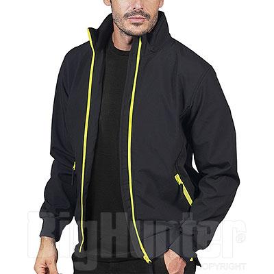 Bomber uomo Bruges Waterproof Softshell 3 Layer Black-Yellow